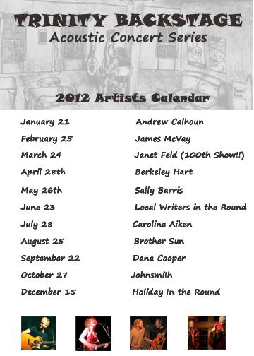 Trinity Backstage Calendar 2012